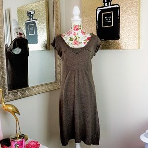 Knitted & Knotted | Brown Sweater Dress Size Med